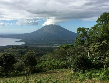 Image of Volcano Concepcion from Volcano Maderas on Ometepe Island in Nicaragua.