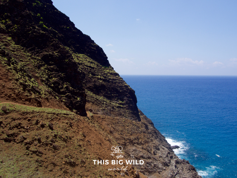 Crawler's Ledge is one of several hikes on the Kalalau Trail along Kauai's Na Pali Coast.