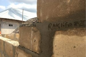 Image of RAKLife inscribed into a home we built in Paje Village, Zanzibar.