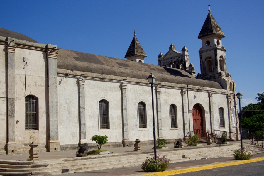 Image of Guadalupe Church in Granada, Nicaragua.