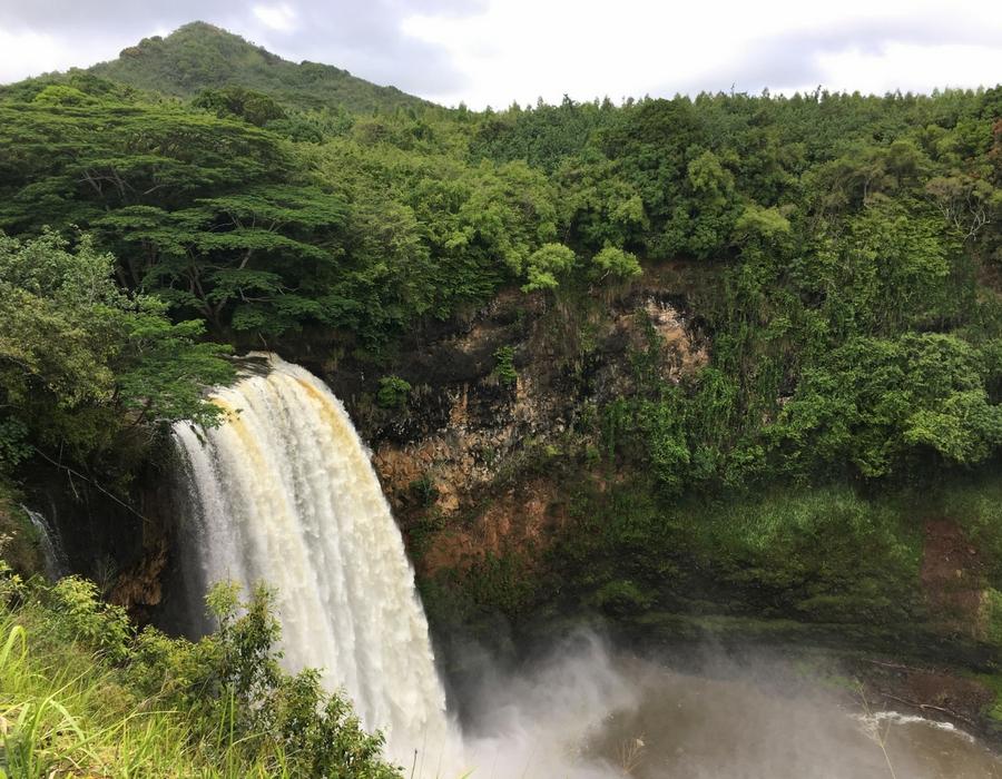 Image of Wailua Falls, near Lihue in Kauai.