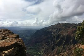 Image overlooking beautiful Waimea Canyon in Kauai.
