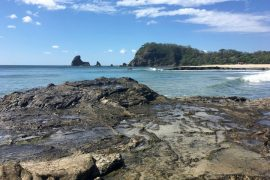 Image of the secluded beach to the North of Playa Maderas in Nicaragua.