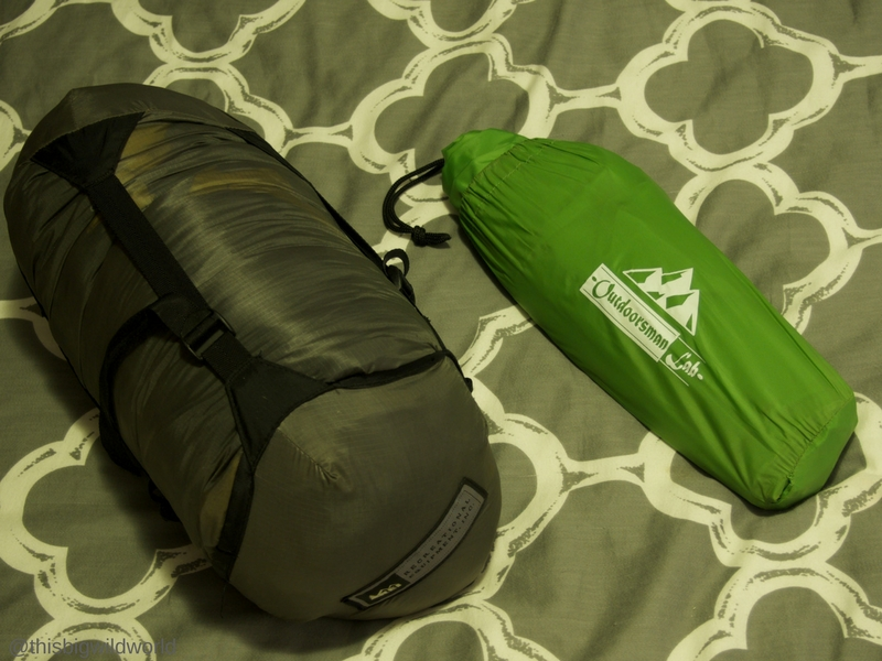 Image of REI Brand sleeping bag and Outdoorsman Lab sleeping pad used while hiking the Inca Trail in Peru.
