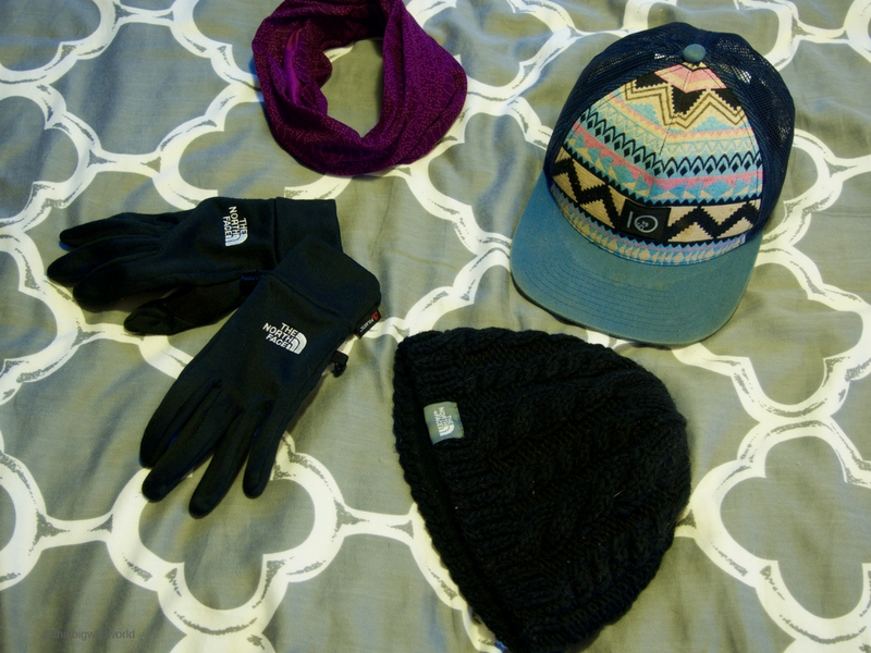 Don't forget your outerwear when packing for the Inca Trail hike in Peru, including wool hat, scarf and gloves.