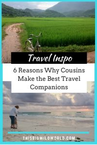 Pin image for 6 Reasons Why Cousins Make the Best Travel Companions blog post.