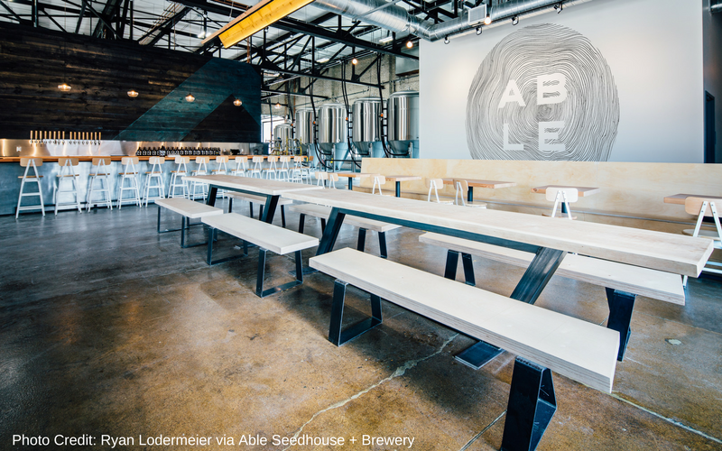 Able Seedhouse and Brewery is one of the best Minneapolis breweries, located in the Northeast neighborhood.