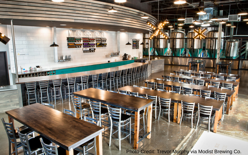 Modist Brewing Co. is one of the best Minneapolis breweries, located in the North Loop neighborhood near Target Field.