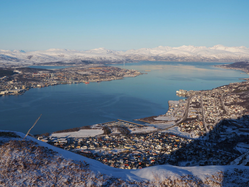 Taking the cable car to get views from above is one of the things to do in Tromso Norway.