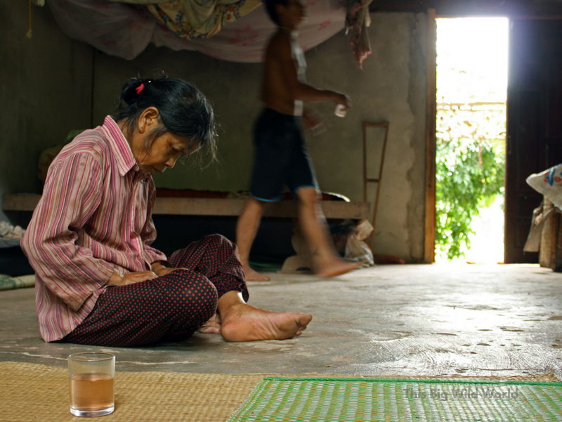 Learning the importance of being present in the moment as this Vietnamese woman invited me into her home to share tea.