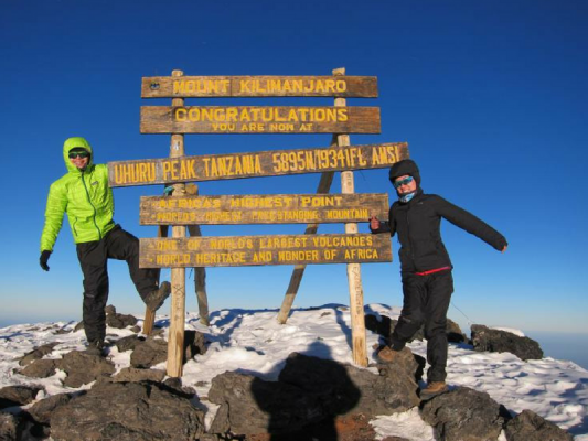 This month's Find Your Adventure series features Jackie from Life of Doing travel blog! Here she is at the summit of Mount Kilimanjaro in Tanzania.