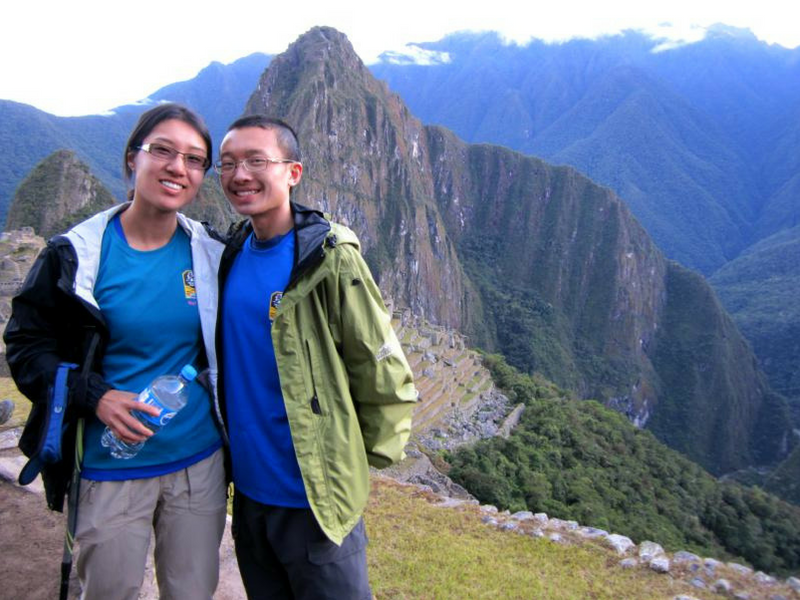 Life of Doing at Machu Picchu with her husband after hiking the Salkantay Trek in Peru.