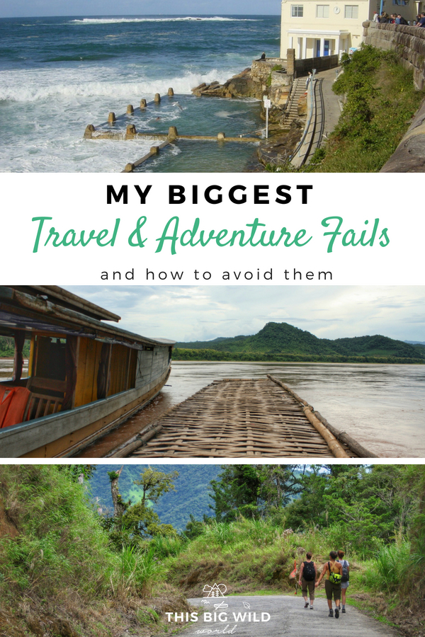 When travel fails, adventure begins. If I couldn't laugh at these travel fails, I'd ugly cry and nobody's got time for that. Here are my biggest travel mistakes to avoid including how not to strangle yourself, be kidnapped and get full-body jellyfish stings. #travelfails #adventurefails #travelmistakes