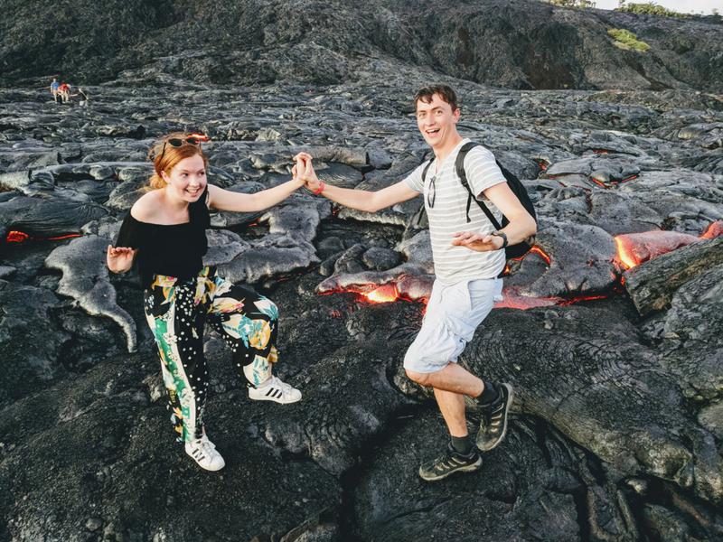 Watch your step! Darren and Lauren of Far Am A Gan travel blog share their lava-filled adventure on the Big Island in Hawaii.