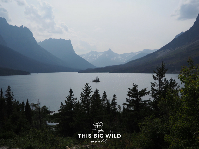 Wild Goose Island is a popular stop for visitors to Glacier National Park. The tiny island can be seen from a viewpoint on the Going-to-the-Sun Road.