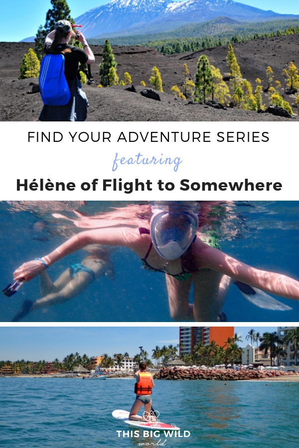 This month's Find Your Adventure series features Hélène of Flight to Somewhere travel blog. She shares what it was like to fly a plane and how she overcomes her fear of the open water. Get your dose of adventure travel inspiration right here!