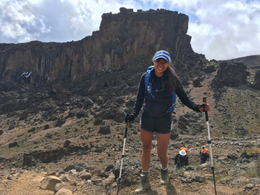 This month's find your adventure series features Lauren of The Ridgeline Report, shown here on one of her many hiking adventures.