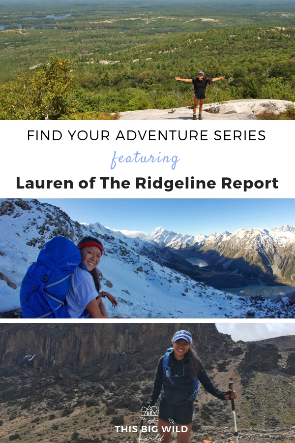 """Get off the screen and embrace the green!"" Lauren of The Ridgeline Report is an engineer turned hiking guide based in Ontario, Canada. In this month's Find Your Adventure series she shares why all of us are ""outdoorsy"" in our own way, about her cycling journey across Vietnam and more. #adventure #travel #cycling #hiking #canada #travelinspiration"