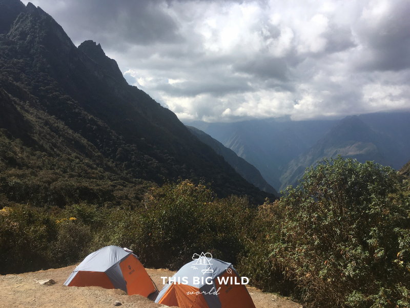 Of the few things I ask of experienced hikers, is to educate, don't berate, those who don't yet know hiking rules and Leave No Trace. Photo of campsite on the Inca Trail.