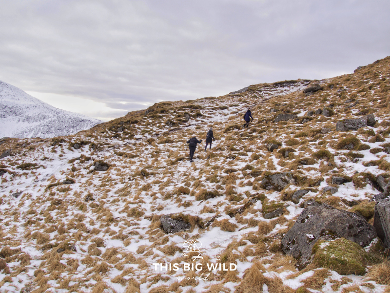 A letter to experienced hikers about hiking rules, hiking etiquette and placing judgement on those less experienced. Photo of winter hiking in Norway.