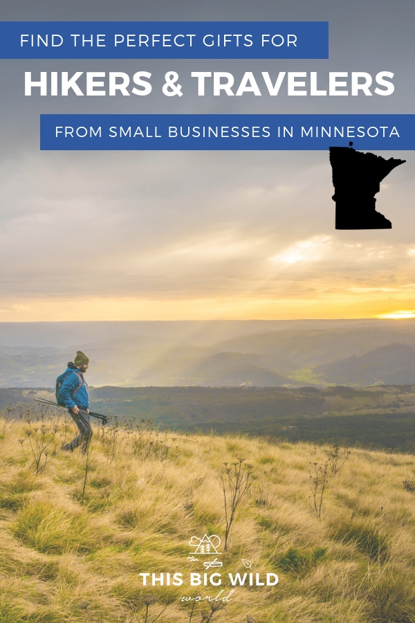 Looking for the perfect gift for a hiker or traveler? Find the perfect gift at these small Minnesota-based businesses including fitness trainers, mindfulness tools, card games and fashion! #travel #hiking #minnesota #usatravel
