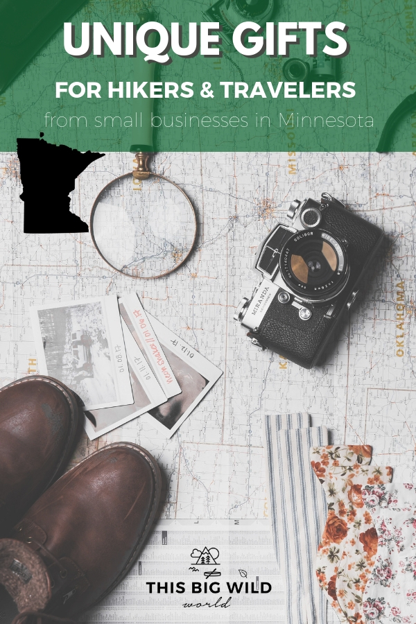 Looking for a unique and thoughtful gift for a hiker or traveler in your life? Why not support a small business too? Find unique gifts for hikers and travelers with these small Minnesota-based companies including fitness, mindfulness and fashion! #travel #hiking #minnesota #usatravel
