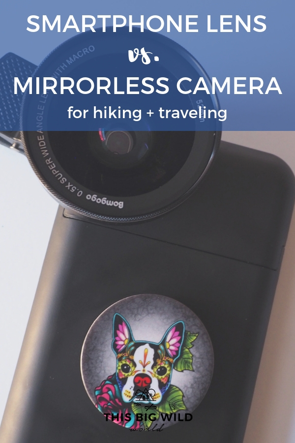 How do smartphone camera lens kits compare to mirrorless cameras for hiking and traveling? I compare Bomgogo's GoVision L5 Combo kit to two popular mirrorless cameras. #travelphotography #cameragear #cameralens