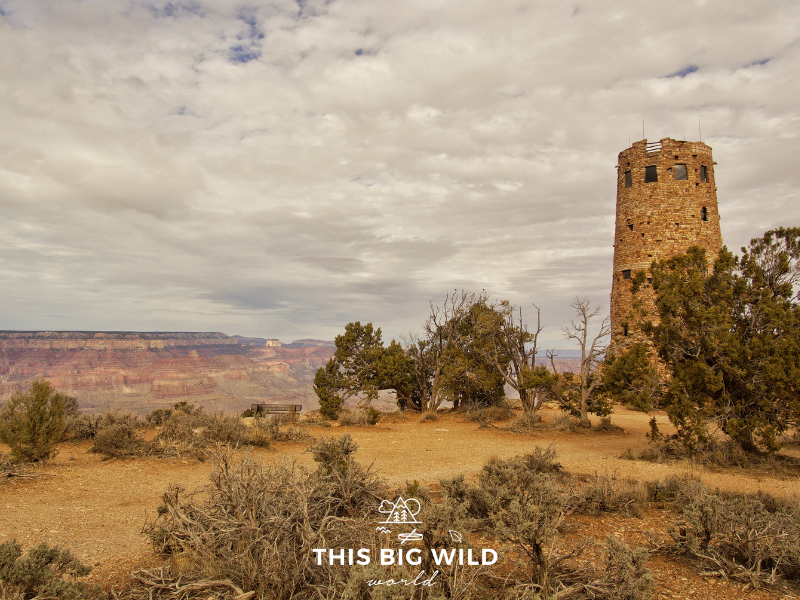 Visit Devil's Watchtower at the Grand Canyon South Rim for views of the Colorado River from above!