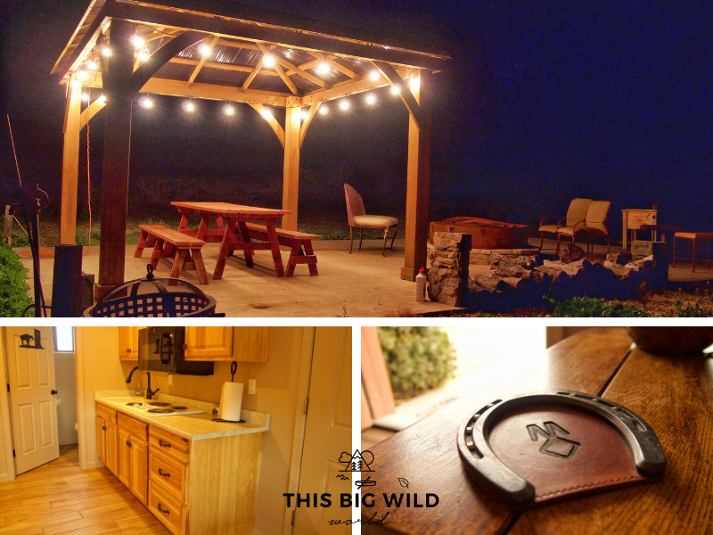 M Diamond Ranch Guesthouse near Sedona has a full kitchen, outside seating area and all the western touches!