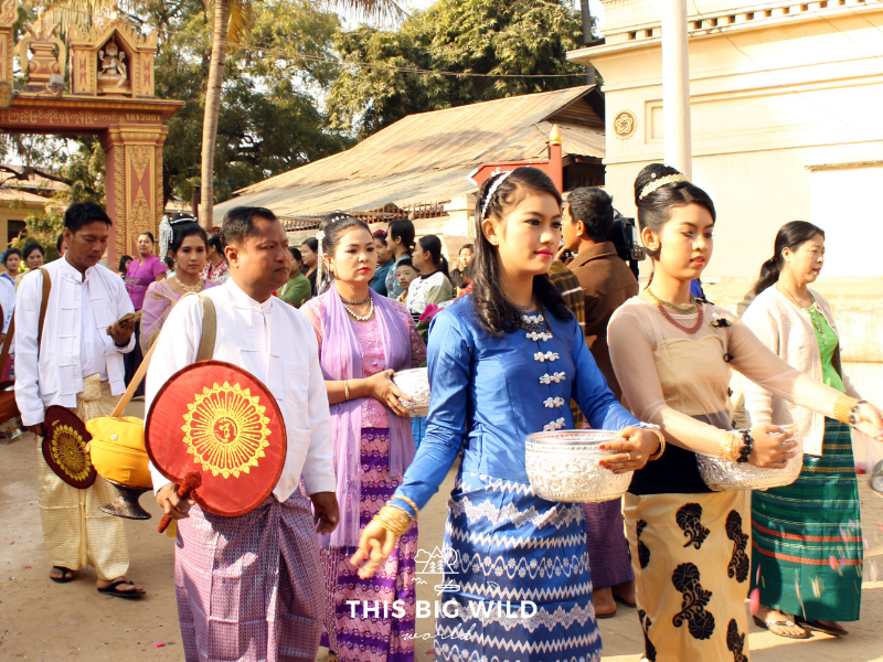 One of the things to do in Bagan is to explore by electric scooter. I happened upon a Shinbyu Ceremony in one of the villages!