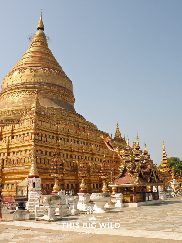 Schwezigon Pagoda is just one of the many things to do in Bagan Myanmar.
