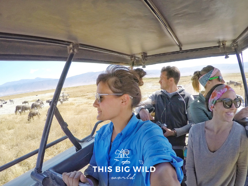 Ask about group and vehicle size before booking a camping safari. Our group of four had a vehicle and guide to ourselves!