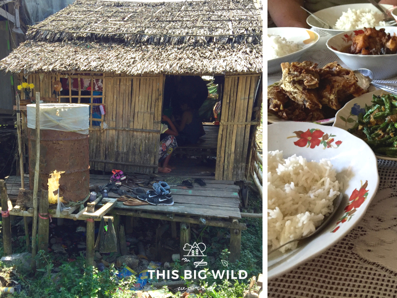Khin's family invited us for lunch at their home before serving the meal for the village.