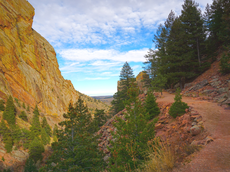 Enjoy hiking at Eldorado Canyon State Park, just outside of Boulder Colorado. Photo by Danielle from Wanderlust While Working.