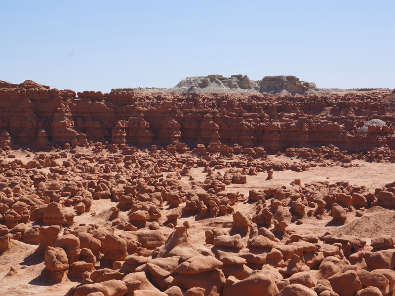 Goblin Valley State Park in Utah has an other-wordly feel with its unique red rock formations. Photo by Kristie from World is Wide.