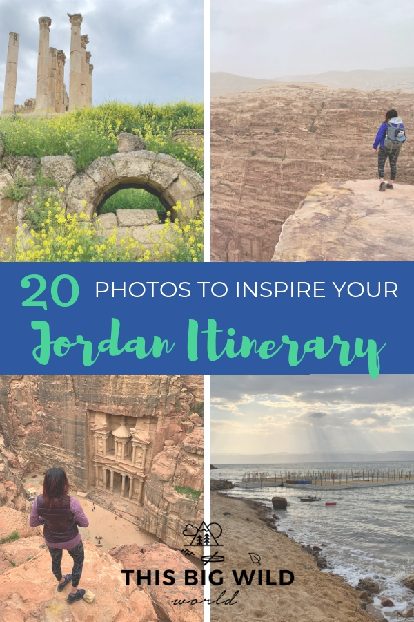 Jordan is so much more than the Treasury at Petra. These photos will inspire your Jordan travel itinerary including the ancient city of Jerash, the Dead Sea, Wadi Rum, Amman and more! #jordan #petra #deadsea #jerash #wadirum