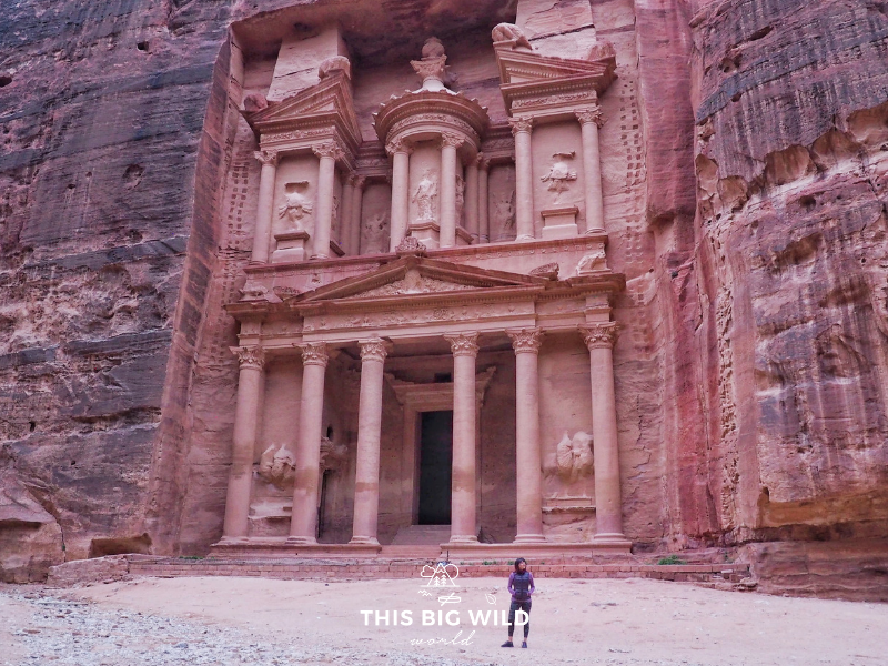 Be sure to wake up early to see the Treasury in Petra without the crowds.