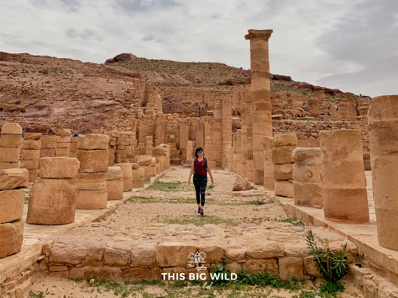 The Colonnaded Street in Petra is lined with remnants of the market and Royal Palace.