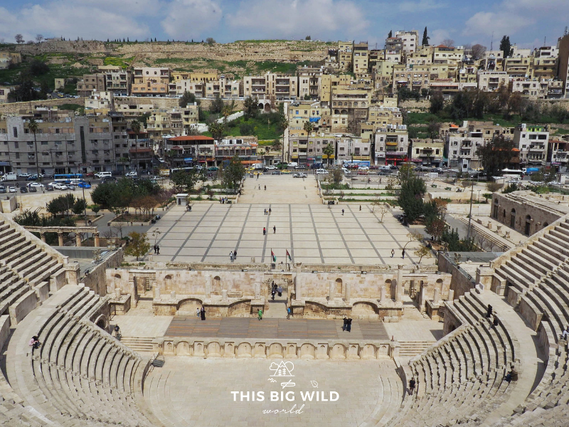 The Roman Amphitheater in Amman is a must on any Jordan itinerary.