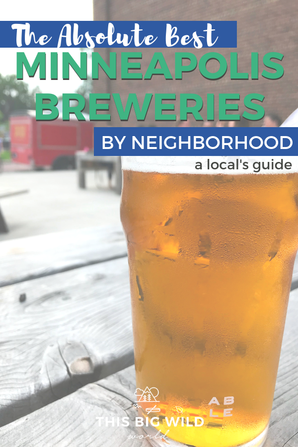 Exploring the breweries in Minneapolis is one of my favorite ways to experience the city. This local's guide to the best breweries in Minneapolis is broken down by neighborhood so you can easily walk or bike! Just for fun, I've also included restaurant recommendations for each of the 5 routes! #minnesota #minneapolis #beer #craftbeer #brewery #microbrewery