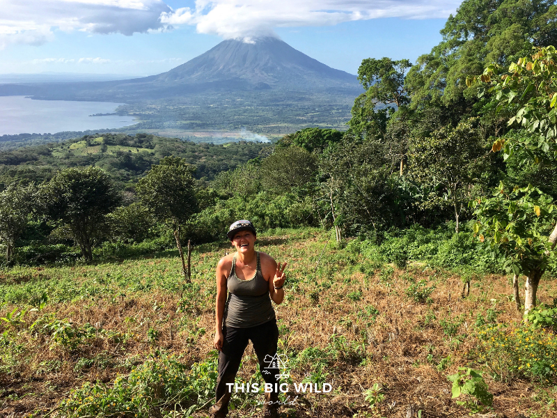 The Volcan Maderas hike on Ometepe Island offers amazing views of the islands other volcano!