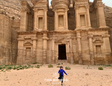Running away from the Monastery at Petra like a boss.