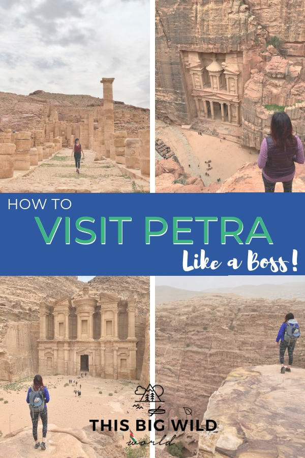Petra is so much more than the famous Treasury! Check out these boss tips to plan your visit to Petra including how to get the Treasury to yourself, things to do in Petra, where to stay near Petra, answers to frequently asked questions about Petra and more! #petra #jordan #travel