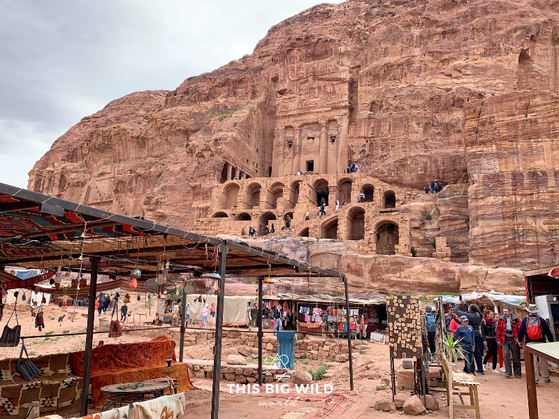 Enjoy the view of the Royal Tombs while sipping on Arabic coffee at one of the many bedouin tents in Petra.