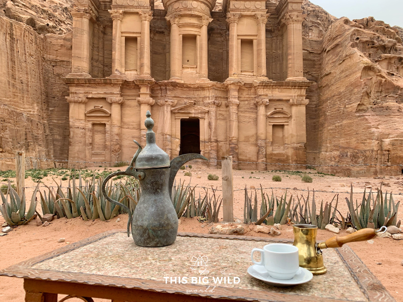 The Monastery, or Ad-Deir, in Petra is a must-see. Enjoy the view of this intricate and well-preserved facade while drinking a coffee at the nearby cafe.