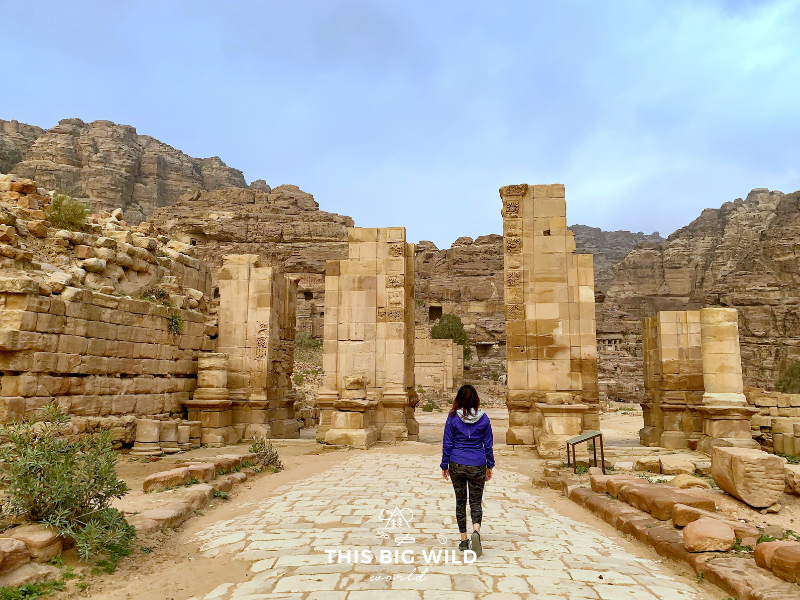The Colonnaded Street in Petra will transport you to Rome. The street was once a main thoroughfare with Roman inspired columns, churches and buildings.