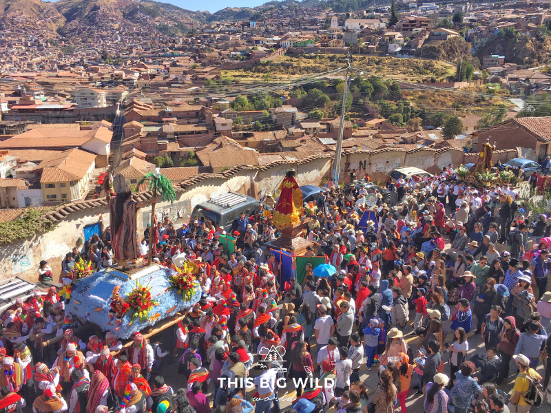 The Corpus of San Cristobal is a festival in August that features a parade through Cusco.