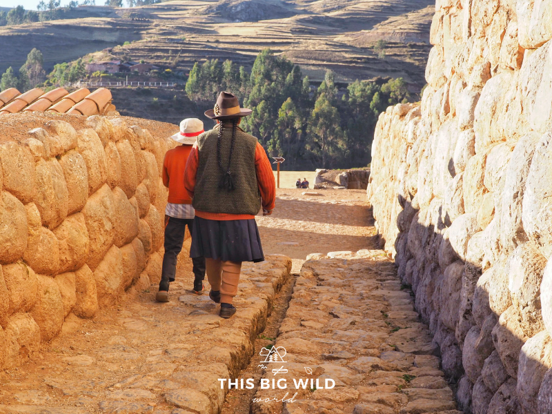 Chinchero is known for its handwoven goods, but the ruins are spectacular to explore especially close to sunset.