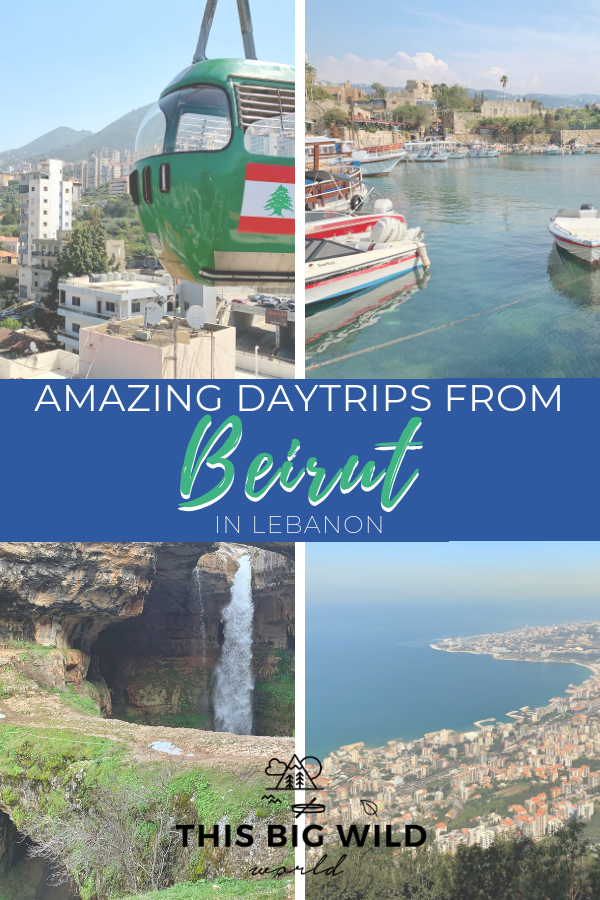 Don't let Lebanon's small size fool you, there's so much to explore! Beirut makes a great base to explore from. These 7 daytrips from Beirut should be on your Lebanon itinerary including, Harissa, Byblos, Kadisha Valley, and more! beirut lebanon | beirut lebanon travel | byblos lebanon | jbeil lebanon | kadisha valley | baatara gorge waterfall #lebanon #beirut