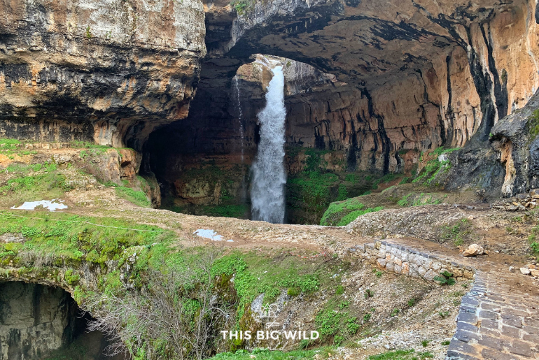 Baatara Gorge Waterfall is just one of the amazing daytrips from Beirut in Lebanon!